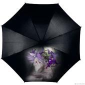 """Зонт с росписью """"Кошка в шляпке"""""""