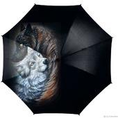 """Зонт с росписью """"Волки: Любовь на всю жизнь"""""""