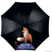 """Зонт с росписью """"Маленький принц: лиса и роза"""""""