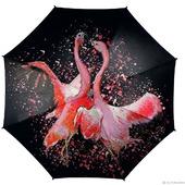 "Зонт с росписью ""Танец фламинго"""