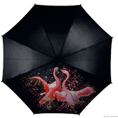 Зонт с росписью Фламинго