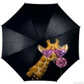 """Зонт с росписью """"Модный жираф"""""""
