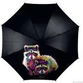 Зонт с росписью Еноты