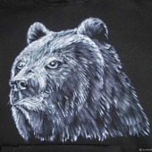 "Толстовка с рисунком на заказ ""Медведь"""