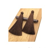 Кисти для создания серег коричневые
