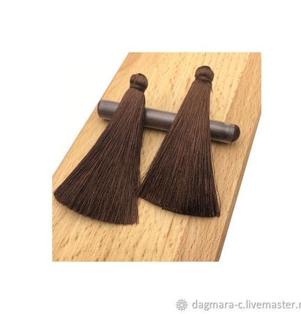 Кисти для создания серег коричневые ручной работы на заказ