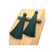 Кисточки для создания бижутерии темно-зеленые