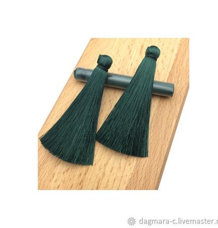 Кисточки для создания бижутерии темно-зеленые ручной работы на заказ