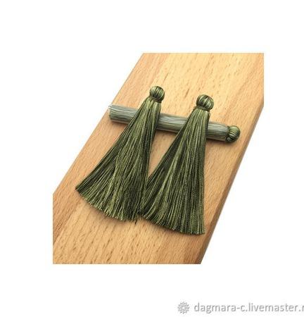 Кисточки для создания бижутерии зеленые ручной работы на заказ