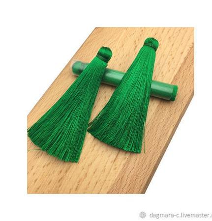 Кисточки для создания бижутерии ярко-зеленые ручной работы на заказ