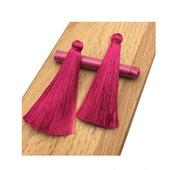 Кисти для создания сережек цвета фуксия.