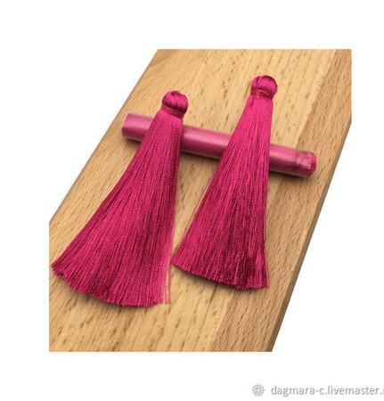 Кисти для создания сережек цвета фуксия. ручной работы на заказ