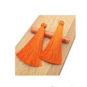 Кисти для создания серег оранжевые