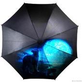 """Зонт с росписью """"Волк и луна"""""""