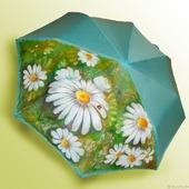 Зонт с росписью Ромашки