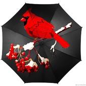 "Зонт с росписью ""Красная птица"""