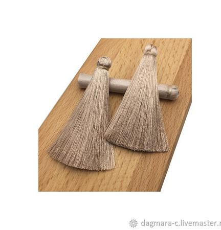 Кисти для создания серег бежевые ручной работы на заказ
