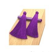 Кисти для создания серег фиолетовые