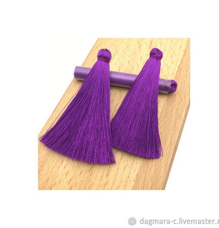 Кисти для создания серег фиолетовые ручной работы на заказ