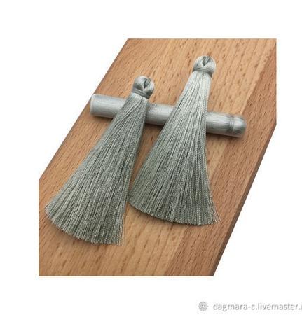 Кисточки для создания бижутерии серые ручной работы на заказ