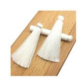 Кисточки для создания сережек белоснежные
