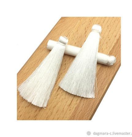 Кисточки для создания сережек белоснежные ручной работы на заказ
