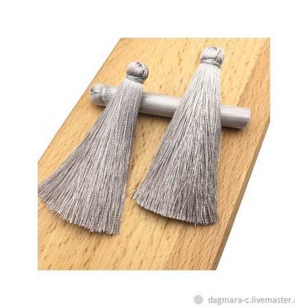 Кисти для создания украшений серо-серебряные ручной работы на заказ
