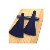 Кисточки для создания серег темно-синие