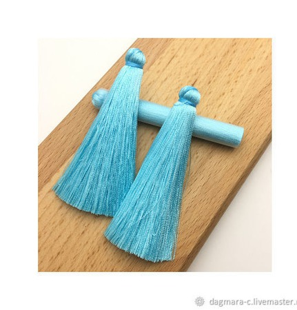 Кисти для создания серег бирюзово-голубые ручной работы на заказ