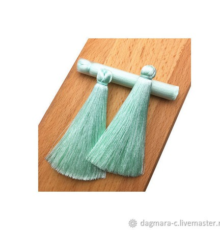 Кисти для создания серег мятные ручной работы на заказ