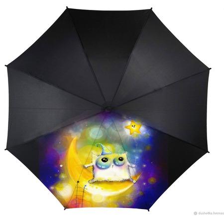 """Зонт с росписью """"Сова"""" ручной работы на заказ"""