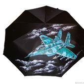 """Зонт с ручной росписью """"Истребитель"""""""
