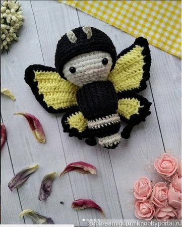 Бабочка-гусеница для детей ручной работы на заказ