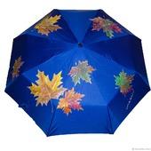 """Зонт с росписью """"Осенние листья"""""""