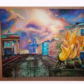 """Интерьерная картина """"Санкт-Петербург - город счастья"""""""