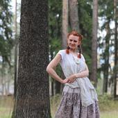 Пышная длинная юбка на лето из хлопка