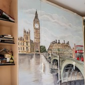Роспись стен (шкафа-кровати)