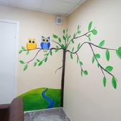 Роспись стен в детском стационаре клиники