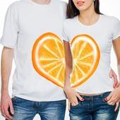 """Парные футболки для влюбленных """"Апельсины"""""""