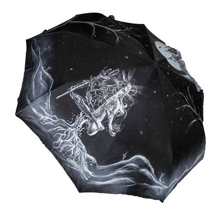 """Зонт с ручной росписью """"Шива"""" ручной работы на заказ"""