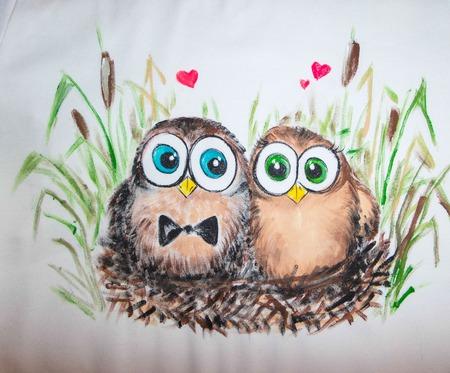 """Парные футболки для влюбленных """"Кукушки"""" ручной работы на заказ"""