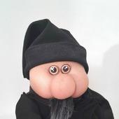 Интерьерная игрушка Домовенок в черном