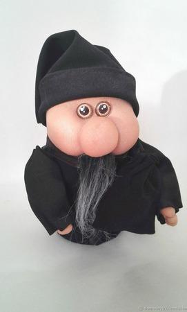 Интерьерная игрушка Домовенок в черном ручной работы на заказ