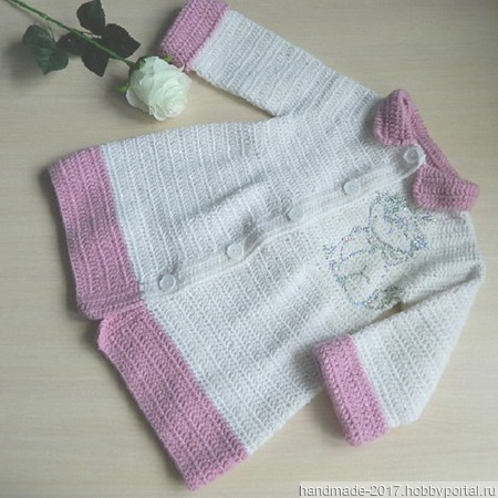 Вязаное детское пальто ручной работы на заказ