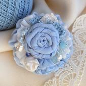 фото: брошь текстильная