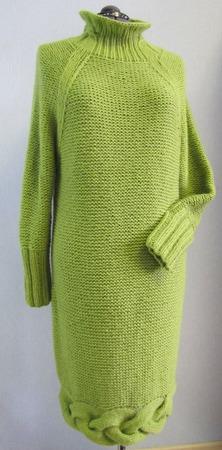 Вязаное теплое платье ручной работы на заказ