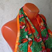 """Палантин ручной работы """"Оранжевый попугай"""" модель 1"""