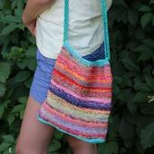 "Летняя вязаная сумка сумочка ""Цвето-терапия"""