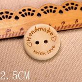 Пуговицы деревянные Hand made 25 мм