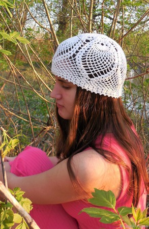 Летняя шапочка №6 ручной работы на заказ